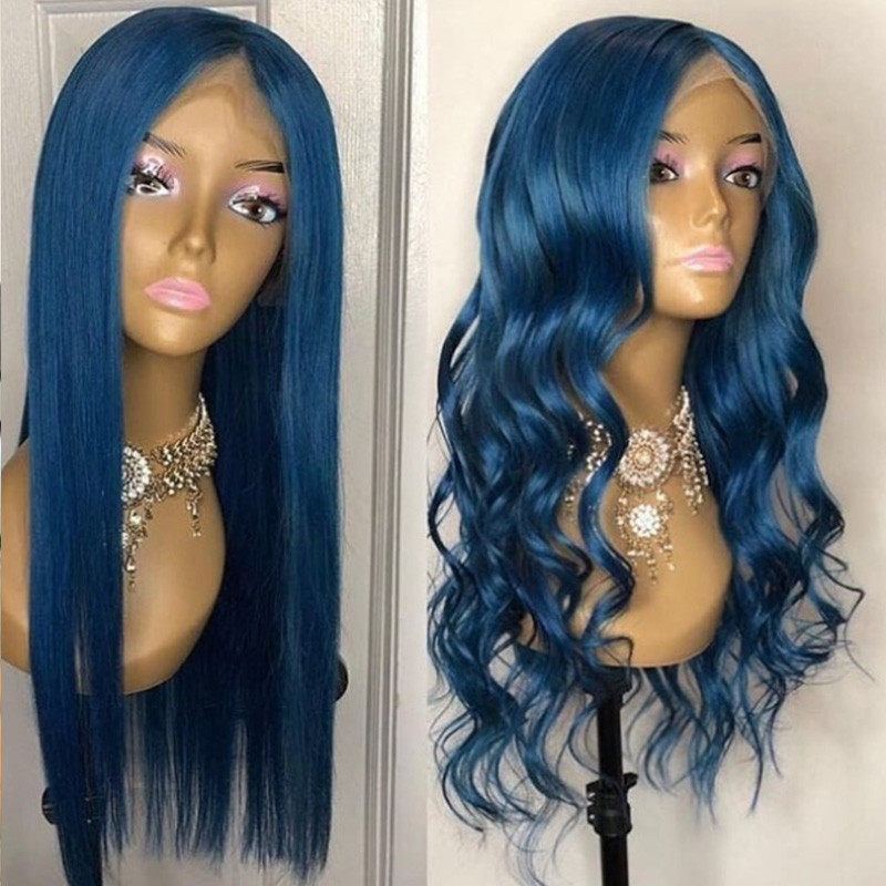 WigLeader Colorful Full lace Wigs with Bangs 150% Density human Hair Lace Front Wigs Preplucked