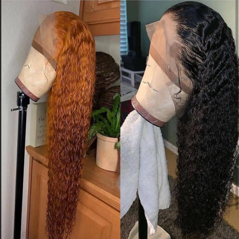 2019 Hot Selling Tight Curly Bleached knots Glueless Full lace wig /Lace front wig  Pre Plucked With Baby Hair