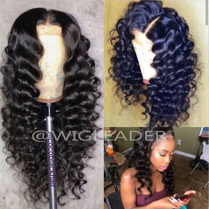 10A 360 Wig Deep wave Pre Plucked Glueless Human Hair Front lace Wigs With Baby Hair