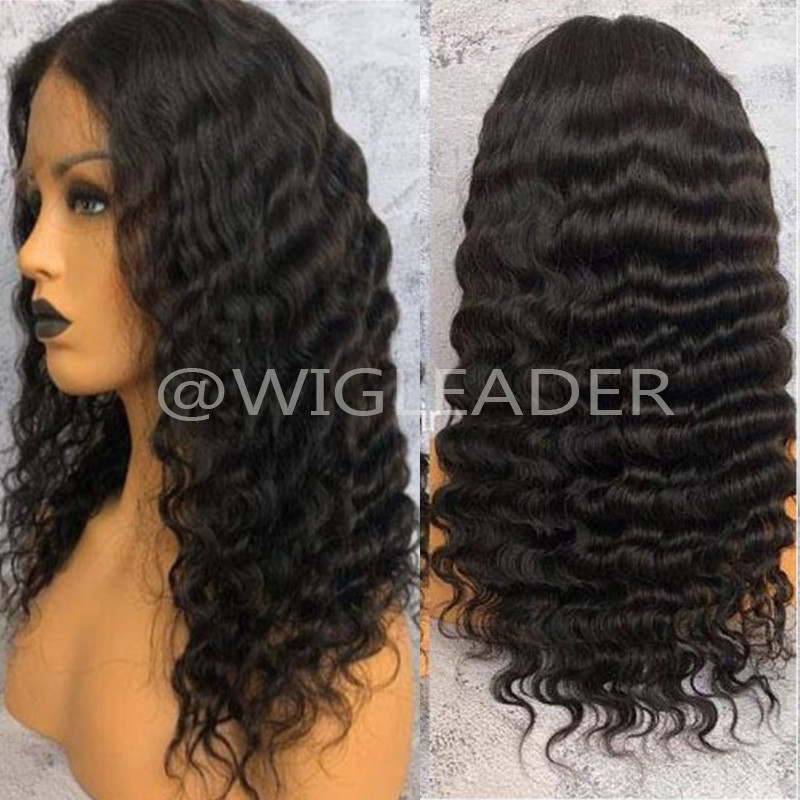 150% Density Full Lace Wig Deep Wave  Human Hair Lace Front Wig Bleached Knots Glueless13x6 Lace Front Wig Pre-plucked