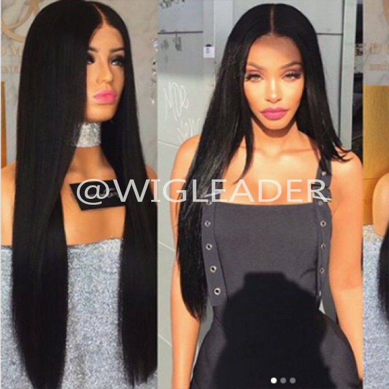 180% density 12A Full Lace Front Wig  Straight Human Hair lace front wig  Bleached knots Lace Wigs for black women