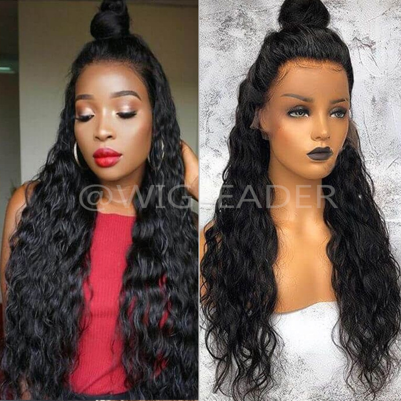 150% Density 13x6 deep Parting Natural Wave Human Hair Lace Front Wig Slay Bleached Knots Glueless Full Lace Wigs Preplucked
