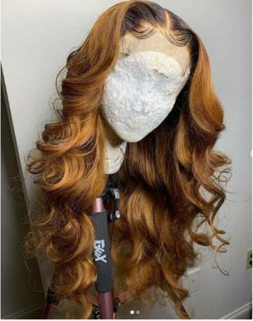 t1B/30 Ombre Pre Plucked Full lace Wigs HD Transparent Lace 150% Density Glueless Lace Front Wigs