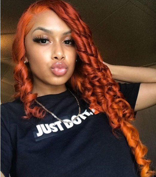 WigLeader Romance Curl Orange Wave Full lace Wigs 150% Density human Hair Lace Front Wigs Preplucked