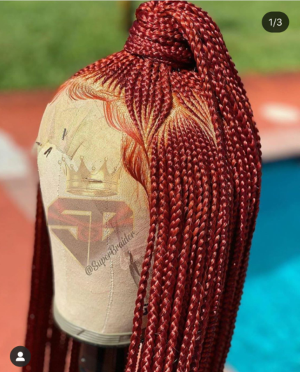 Red Braided Lace Wigs Glueless Full Lace Wigs/Lace Front Wig /Parting lace wig 180% Density Braiding Lace Wigs by Wig Leader