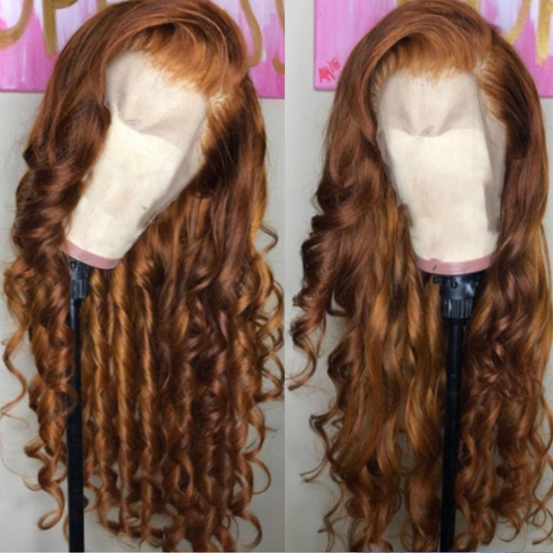 HD Transparent Lace Romace Wave Human Hair Pre Plucked Full lace Wigs 150% Density Glueless Lace Front Wigs