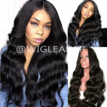 10A Body wave 13x6 Lace Front Wigs Virgin Human Hair 360 Lace Wigs Pre-plucked Hairline Full lace bleached knots