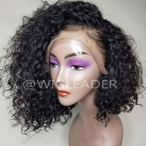 10A short curly bob Pre Plucked Human Hair Lace front Wigs Glueless Frontal Lace Wigs bleached knots hair wig