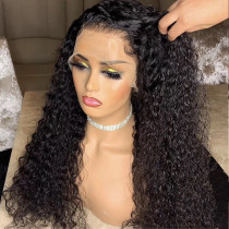 180% Density Tight Curly Full lace Wigs  Swiss Lace Transparent Lace 150% Density human Hair Lace Front Wigs Preplucked