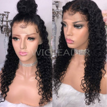 130%/150% /180%Density Curly Human Hair 13x4 Lace Front Wig Slay Bleached Knots Glueless Full Lace Wigs Preplucked