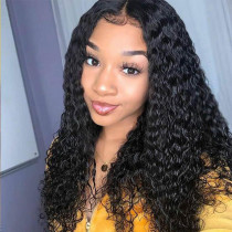 180% water wave Human hair Pre Plucked Lace front Wig Bleached knots Glueless Full Lace wigs with baby hair