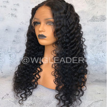 Wig Leader Hot Deep Curly Lace front wigs Bleached Knots Pre Plucked Glueless Full Lace Wigs with baby hair