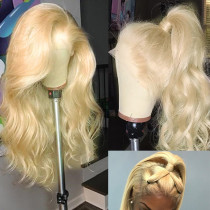 #613 Blonde wavy Wigs 180% Density Brazilian Remy Human Hair lace front Wig body wave Full lace wig Human Hair
