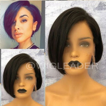 Wig552  Summer Short Bob Cut  Virgin Human Hair Glueless Full Lace Wig/13X6 Lace Wigs/ 360 Wigs  With Baby Hair Pre Plucked Remy Hair