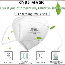 Medical Masks KN95 10 PCS KN95 Mouth Masks 4-Layer PM2.5 N95 Respirator Face Masks Medical Reusable Mouth Mask for Men Women