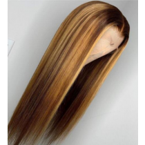 Highlight Color Pre Plucked Full lace Wigs Swiss Lace 150% Density Glueless 13x6 Lace Front Wigs