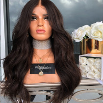 Wig Leader #2 Dark Brown Pre Plucked Lace Front Wigs 180% Density Glueless Full Lace Wigs Bleached Knots