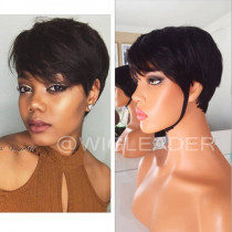 Wig553  HOT Summer Short Bob Cut Glueless Human Hair Full Lace Wig/13X6 Lace Wigs/ 360 Wigs With Baby Hair Pre Plucked Remy Hair