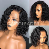 10A curly bob Lace Front Human Hair Wigs Brazilian Remy Hair For Black Women Full Lace front Wig  PrePlucked