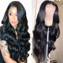 180% Density Full Lace Wig Wavy Human Hair Lace Front Wig Slay Bleached Knots Glueless Lace Front Wig Pre-plucked