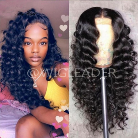 Loose Deep wave Pre Plucked Lace Front Human Hair Wigs Glueless Full Lace Wigs With Baby Hair