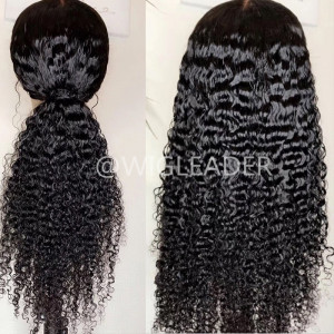 10A Hot deep tight Curly  Pre Plucked Full lace wig Bleached knots Glueless 13x6 Lace Front wigs Bleached knots