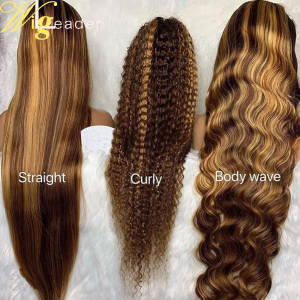 Straight ,Body Wave/ Deep Wave Pre Plucked Swiss LACE Human Hair Lace Front Wigs Highlight Color Hair wigs With Baby Hair Remy Hair Glueless Full Lace Wigs